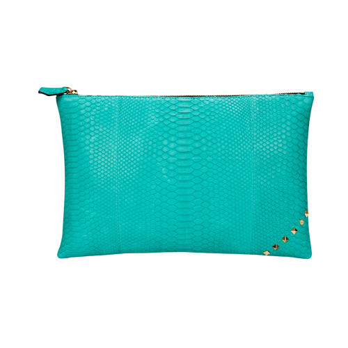[불르아]MATT ZIP CLUTCH_MINT